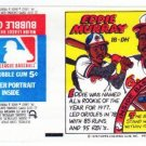 1979 Topps Test Issue Uncut Comic Baseball Wrapper Eddie Murray Baltmore Orioles