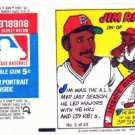 1979 Topps Test Issue Uncut Comic Baseball Wrapper Jim Rice Boston Red Sox