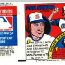 1979 Topps Test Issue Uncut Comic Baseball Wrapper Phil Niekro