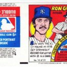 1979 Topps Test Issue Uncut Comic Baseball Wrapper Ron Guidry New York Yankees