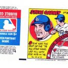 1979 Topps Test Issue Uncut Comic Baseball Wrapper Steve Garvey LA Dodgers