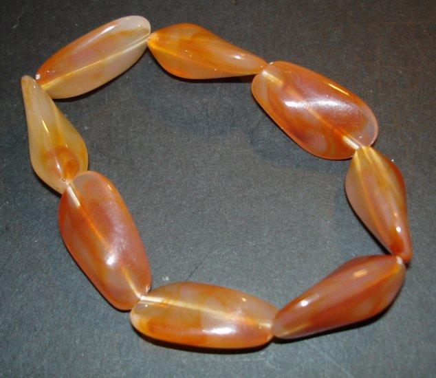 Rust Beaded Bracelet