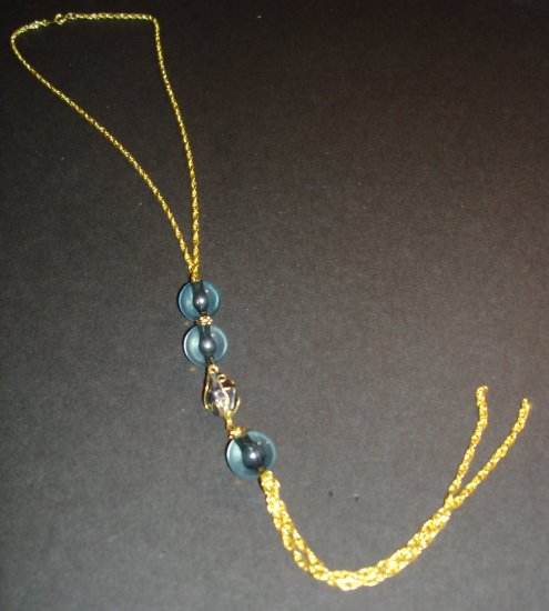 Golden Blues Beaded Necklace