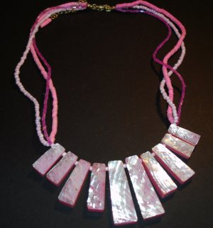 Pink Shell & Bead Necklace
