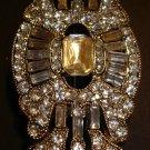 Silver Rhinestone Brooch