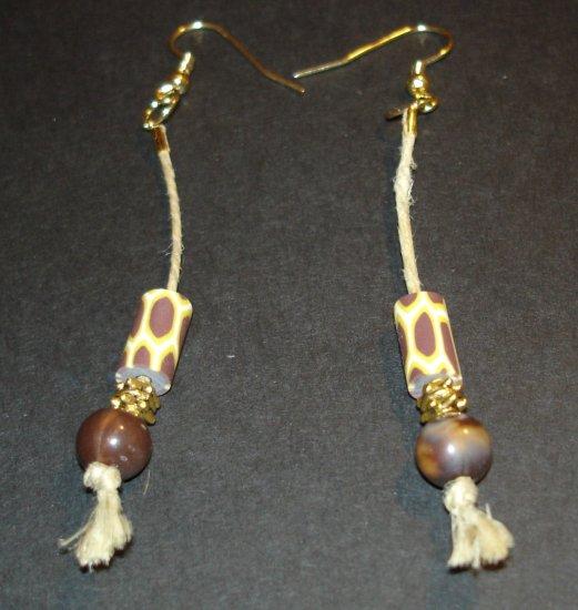 Gold Tribal Dangle Earrings
