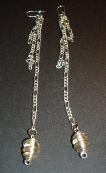 Silver Swirls Dangle Earrings