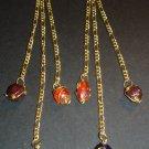 Gold Swirls Dangle Earrings