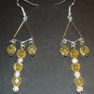 Silver & Gold Beaded Earrings