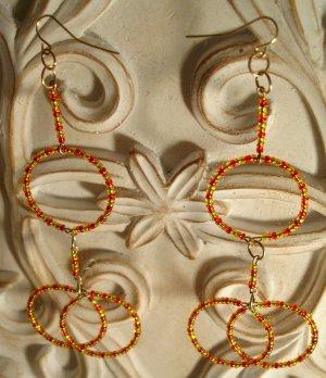 Fire Circles Dangle Earrings