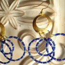 Blue Circles Dangle Earrings