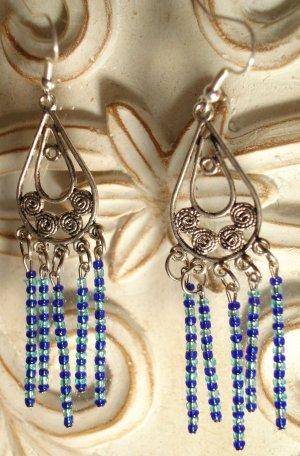 Silver Ocean Dangles Earrings