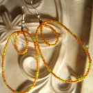 Orange & Yellow Ovals Earrings