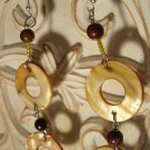 Brown & Cream Circle Earrings