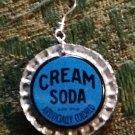 Vintage Cream Soda Cap Earrings