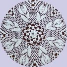 "19"" Field of Tulips doily"