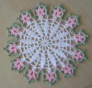 Small Floral doilies (set of 3)