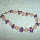 Beautiful Rose Quartz Beads, Pearls, & Amethyst Chip Bracelet