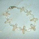 Gorgeous Natural Freshwater Baroque Pearl and Quartz Bracelet