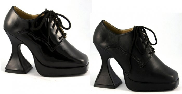 Witch - Women's Lace Up Coffin Heel Shoes