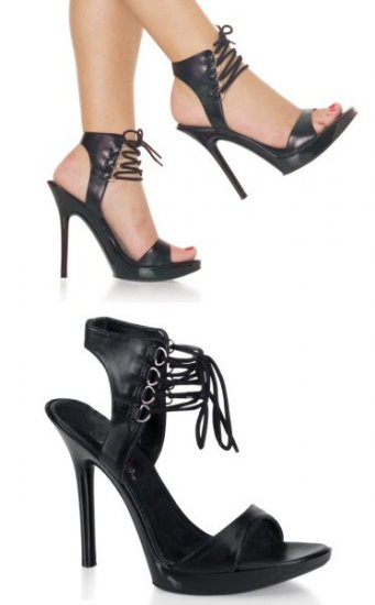 Vogue - Women's Open Toe Sandals with D Ring and Lace Up Ankle Strap