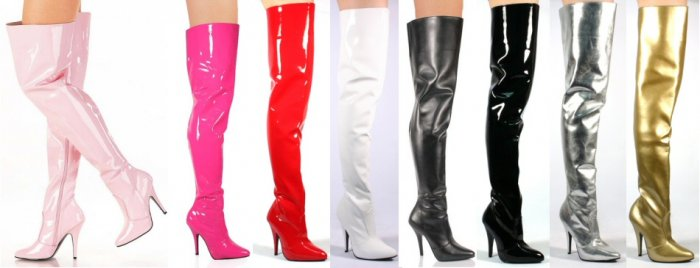 """Seduce"" - Women's Thigh High Heeled Stretch Boots with Elastic"