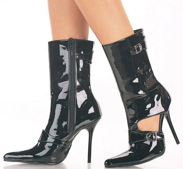 Milan - Women's Ankle Boots with Side Buckles and Cut-Out