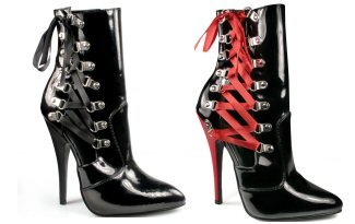 Domina - Women's Ankle Boot with Side Lace Up Ribbon