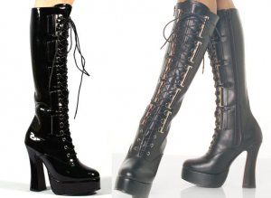 Electra - Women's Knee High Boots wtih Lace Up Front and D- Eyelettes