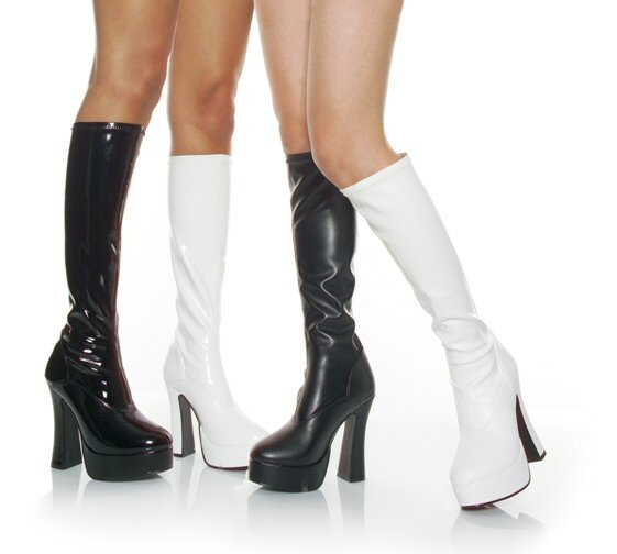 """Electra"" - Women's Pull-On Knee High Platform Boots"