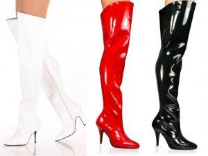 Vanity - Women's High Heel Thigh High Boots
