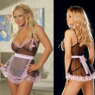 4 Piece Parisian Maid Peek-a-Boo Babydoll Set