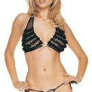 2 Piece Ruffle Halter Top and Thong Set