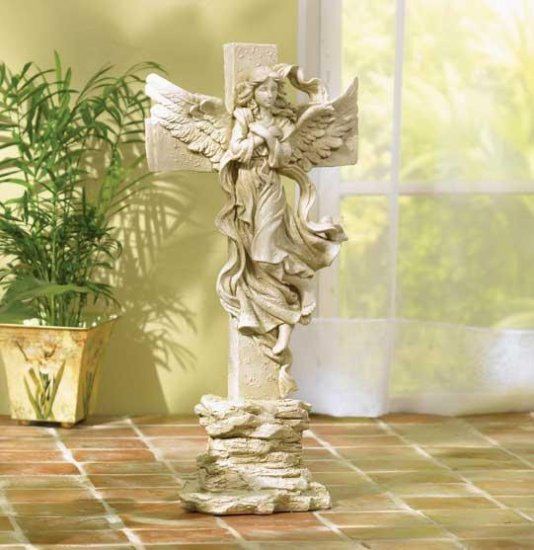 ANGELIC CROSS STATUE---Item #: 38004