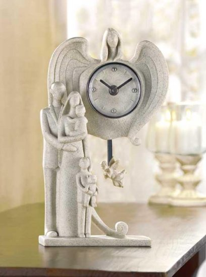 FAMILY GUARDIAN ANGEL CLOCK---Item #: 38026