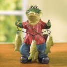 CROCODILE FISHERMAN FIGURE---Item #: 37999