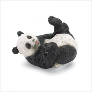 PANDA ON BACK FIGURINE---Item #: 37497