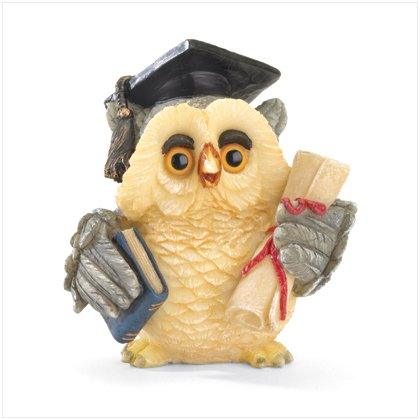 GRADUATION OWL FIGURINE---Item #: 37011
