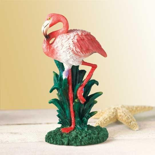 RESIN FLAMINGO FIGURINE---Item #: 37550