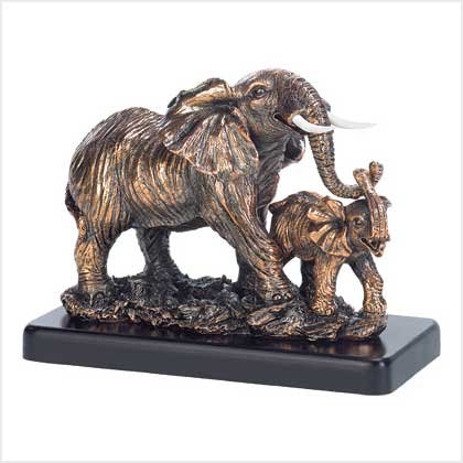 A MOTHER`S LOVE ELEPHANT STATU---Item #: 38987