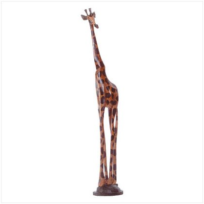 HAND-PAINTED GIRAFFE SCULPTURE---Item #: 31291