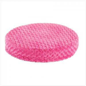 PINK PLUSH ROUND PET BED---Item #: 37530