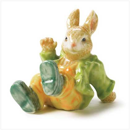 STORYBOOK RABBIT FIGURINE---Item #: 38685