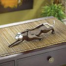 FAUX MARBLE PANTHER STATUE---Item #: 38428