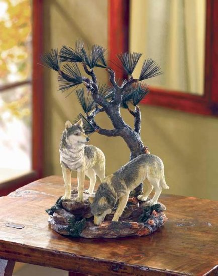 TIMBER WOLVES FIGURE---Item #: 37976