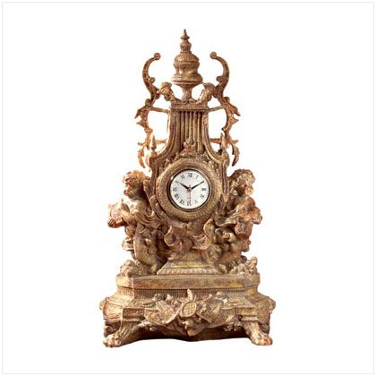 BAROQUE CHERUB CLOCK---Item #: 33310