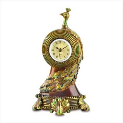 PEACOCK CLOCK---Item #: 38436