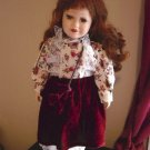 "15"" Vintage Fine Bisque Porcelain Auburn Haired Doll  #600099"