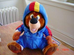 """1977 Nascar Team USA Nascar Teddy Bear 7"""" Plush Stuffed Animal  #600137"""