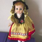 "Small Vintage Vinyl 7"" Doll of the World Dutch Holland   #600162"